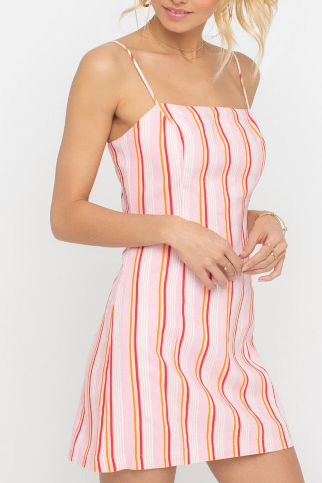 Lush Clothing Striped Square Neckline Dress From Virginia By Mod Soul Shoptiques