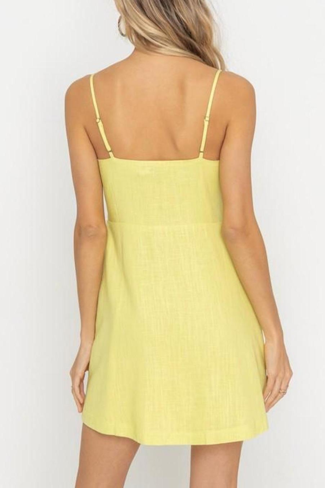 Lush Clothing  Tie-Accent Button Mini-Dress - Side Cropped Image