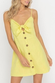 Lush Clothing  Tie-Accent Button Mini-Dress - Front full body