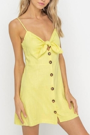 Lush Clothing  Tie-Accent Button Mini-Dress - Front cropped