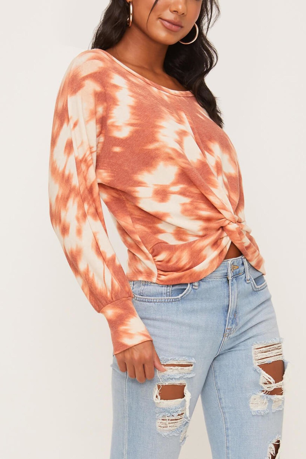 Lush Clothing  Tie-Dye Twist Front Top - Front Full Image