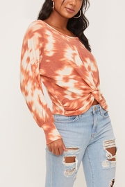 Lush Clothing  Tie-Dye Twist Front Top - Front full body