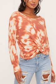 Lush Clothing  Tie-Dye Twist Front Top - Front cropped