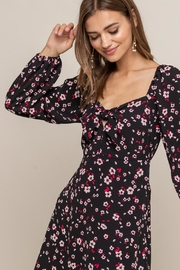 Lush Clothing  Tie Front Floral - Side cropped