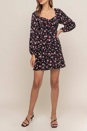 Lush Clothing  Tie Front Floral - Product Mini Image