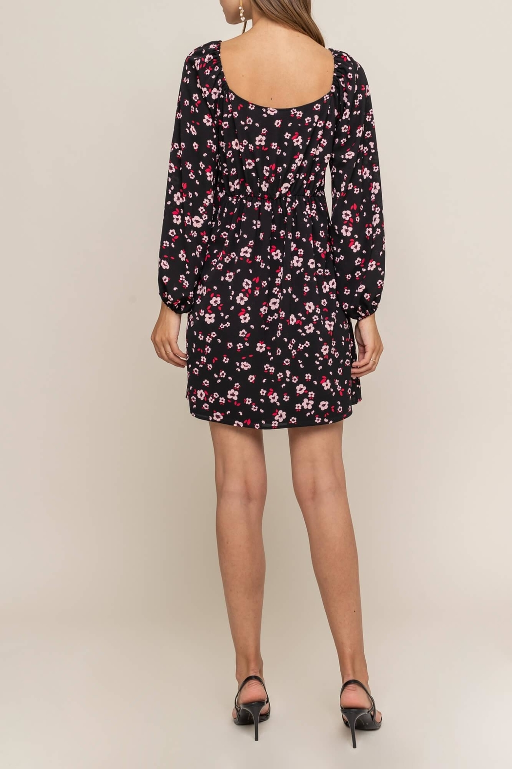 Lush Clothing  Tie Front Floral - Front Full Image