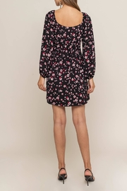 Lush Clothing  Tie Front Floral - Front full body