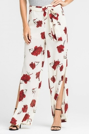 Lush Clothing  Tie-Waist Floral Pant - Front full body