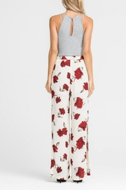 Lush Clothing  Tie-Waist Floral Pant - Side cropped
