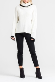 Lush Clothing  Turtleneck Bell-Sleeve Sweater - Front full body