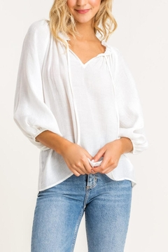 Lush Clothing  White Peasant Top - Product List Image