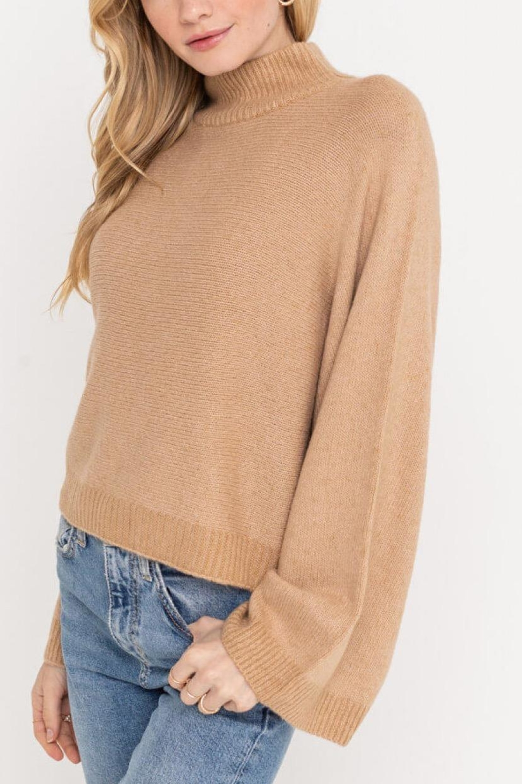 Lush Clothing  Wide Sleeve Sweater - Front Full Image