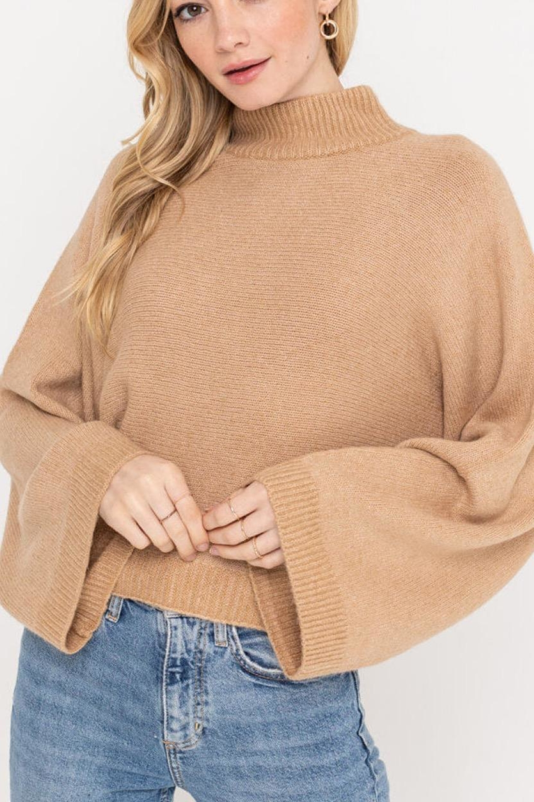 Lush Clothing  Wide Sleeve Sweater - Front Cropped Image