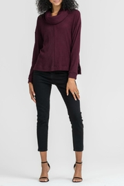 Lush Clothing  Wine Ribbed Sweater - Product Mini Image