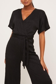 Lush Clothing  Wrap-Front Dolman Jumpsuit - Back cropped