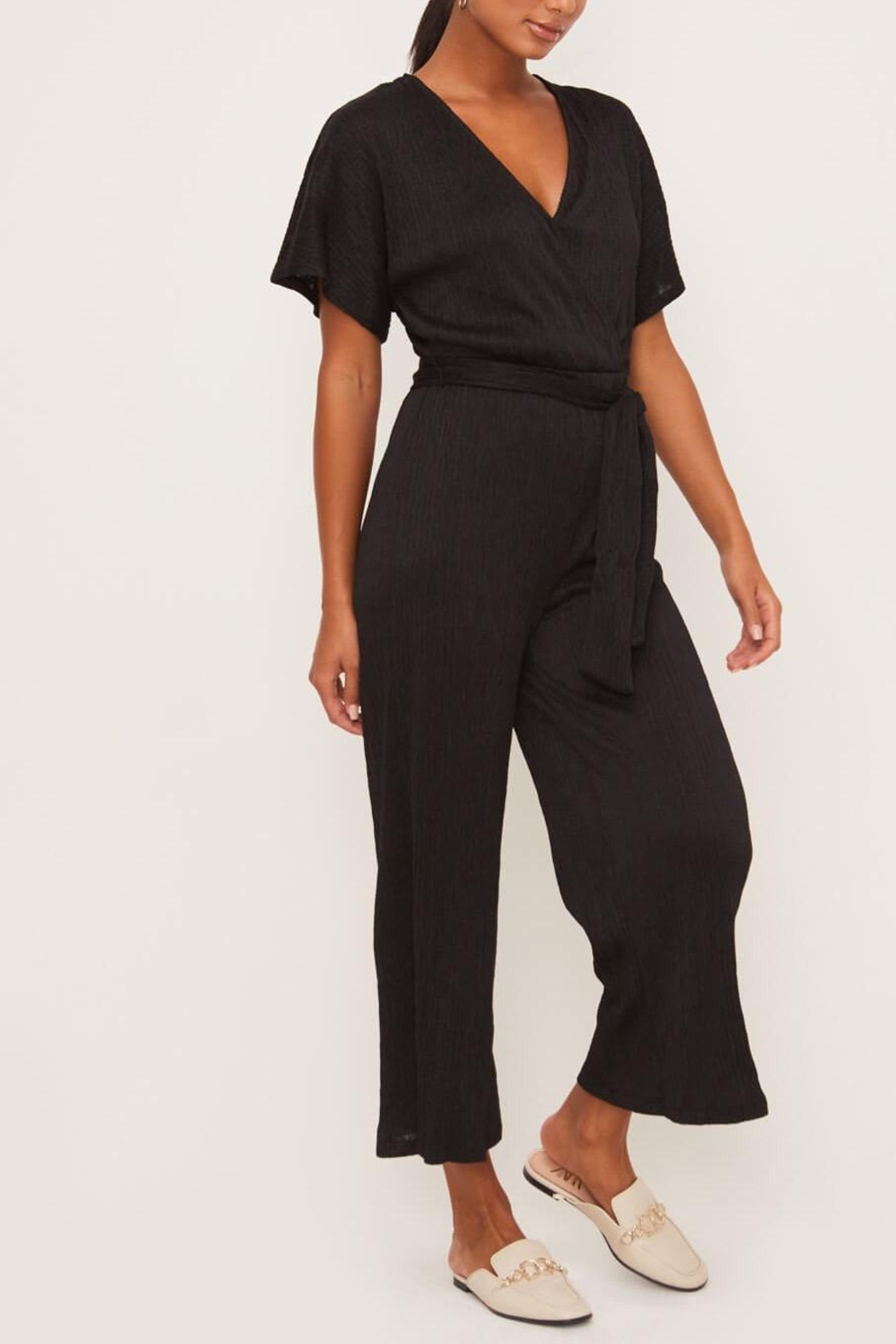 Lush Clothing  Wrap-Front Dolman Jumpsuit - Side Cropped Image