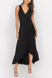 Lush Clothing  Wrap-Style Flowy Midi-Dress - Product Mini Image