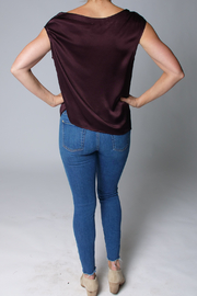 Heather Luster Asymmetrical Top - Side cropped