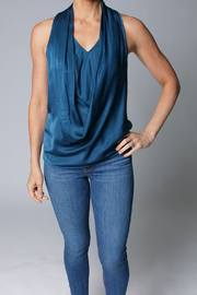 Heather Luster Cowl Neck Tank - Product Mini Image