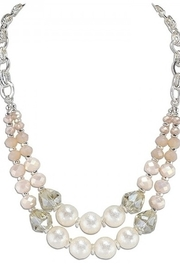 Periwinkle by Barlow Lustrous palette of blush pearls & crystals with bright silver, round linked chain - Product Mini Image