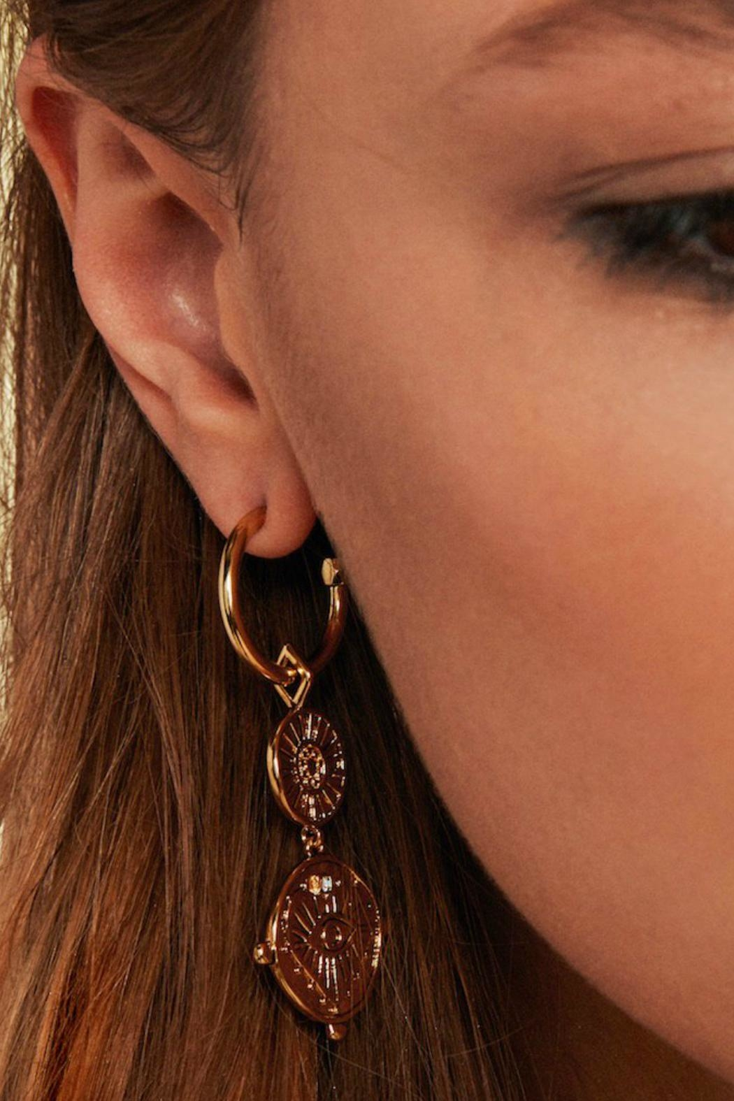 f5cd88c020b3c LUV AJ Double Coin Hoops from Texas by POE and Arrows — Shoptiques