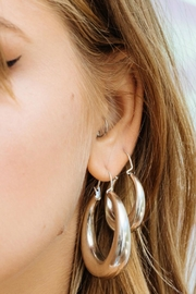 LUV AJ Martina Tube Hoops - Side cropped