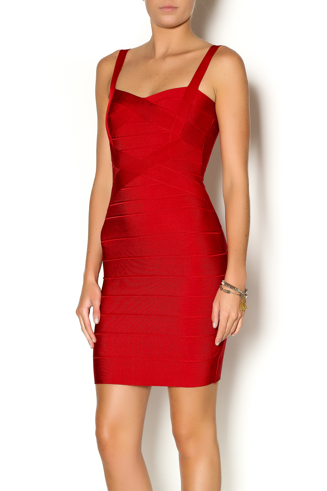 Lux Boutique Barcelona Bandage Dress - Front Cropped Image
