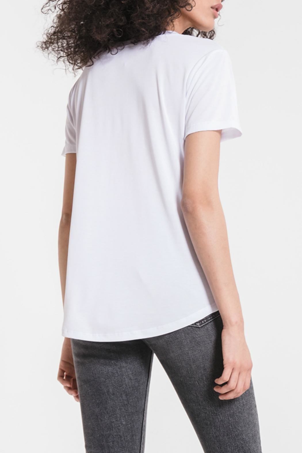 z supply Lux Deep-V Tee - Side Cropped Image