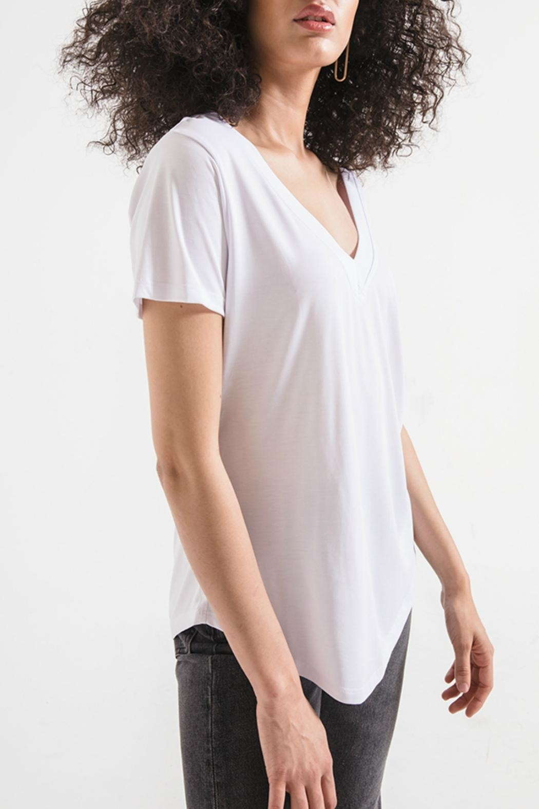 z supply Lux Deep-V Tee - Front Full Image