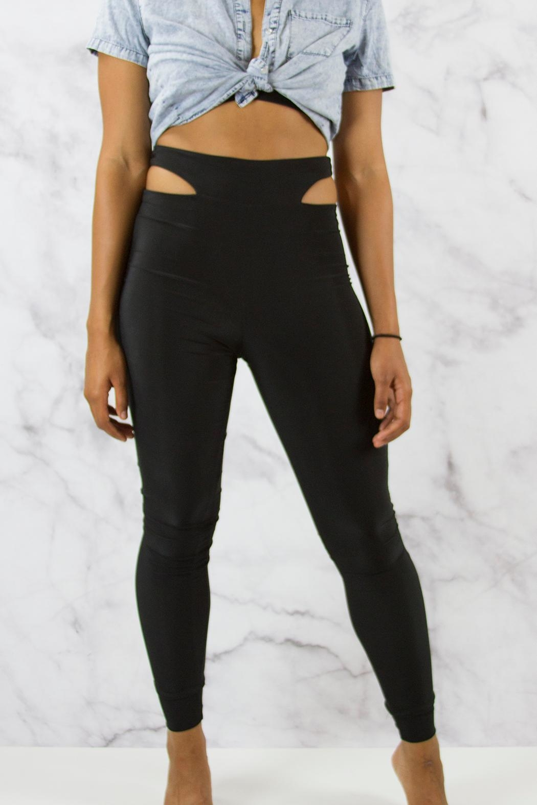Lux Slinky Highwaisted Leggings - Front Cropped Image