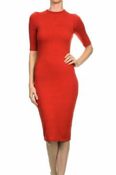 Lux Boutique Burgundy Midi Dress - Product List Image