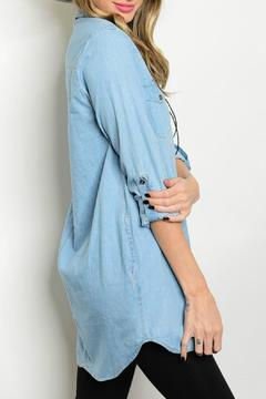 Lux Boutique Chambray Shirt Dress - Alternate List Image