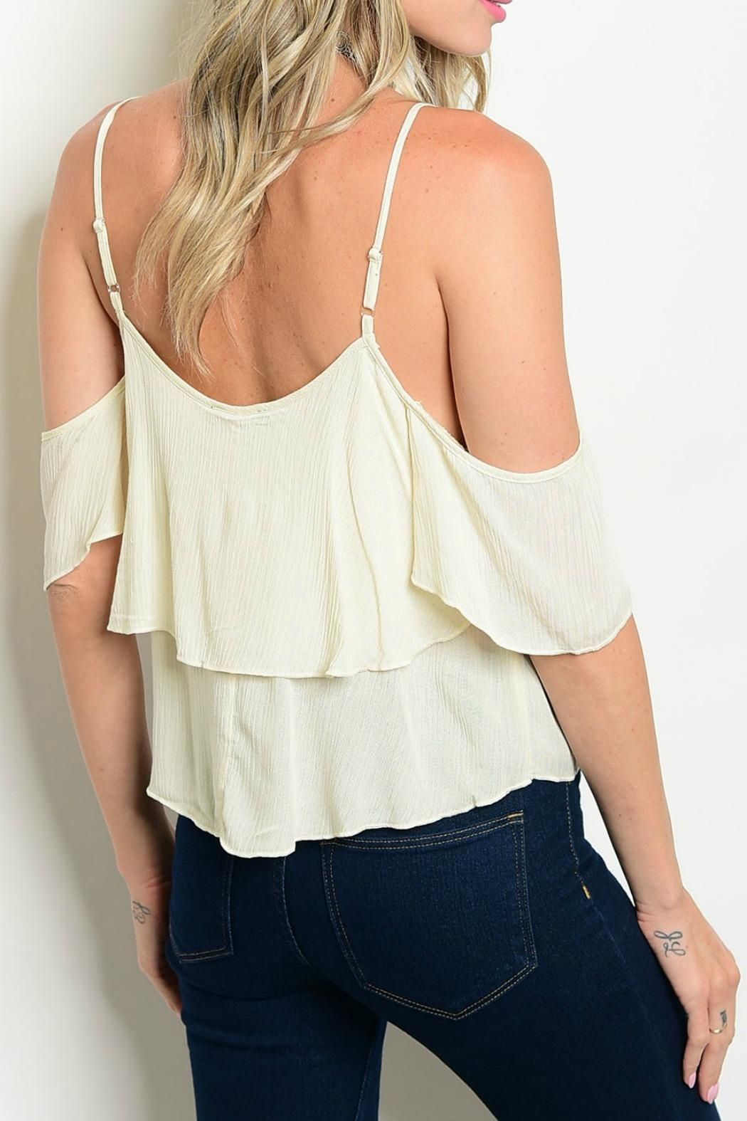 Lux Boutique Cora Off The Shoulder Top - Front Full Image