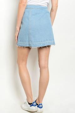 Lux Boutique Denim Mini Skirt - Alternate List Image