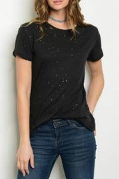 Shoptiques Product: Black Distressed Tee
