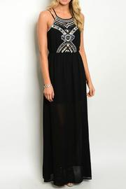 Lux Boutique Embellished Halter Maxi - Product Mini Image