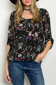 Lux Boutique Floral Print Blouse - Product List Image