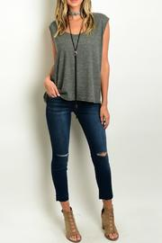 Lux Boutique Frayed Hem Skinny-Jeans - Product Mini Image