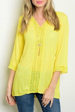 Lux Boutique Guazy Lace Top - Product List Image