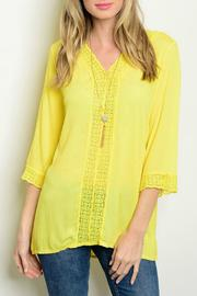 Lux Boutique Guazy Lace Top - Product Mini Image