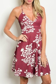 Lux Boutique Hailey Floral Print Dress - Front cropped