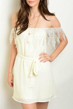 Lux Boutique Ivory Off The Shoulder Dress - Product List Image