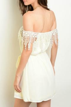Lux Boutique Ivory Off The Shoulder Dress - Alternate List Image