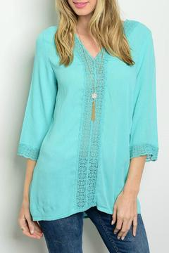 Lux Boutique Jade Guazy Lace Top - Product List Image