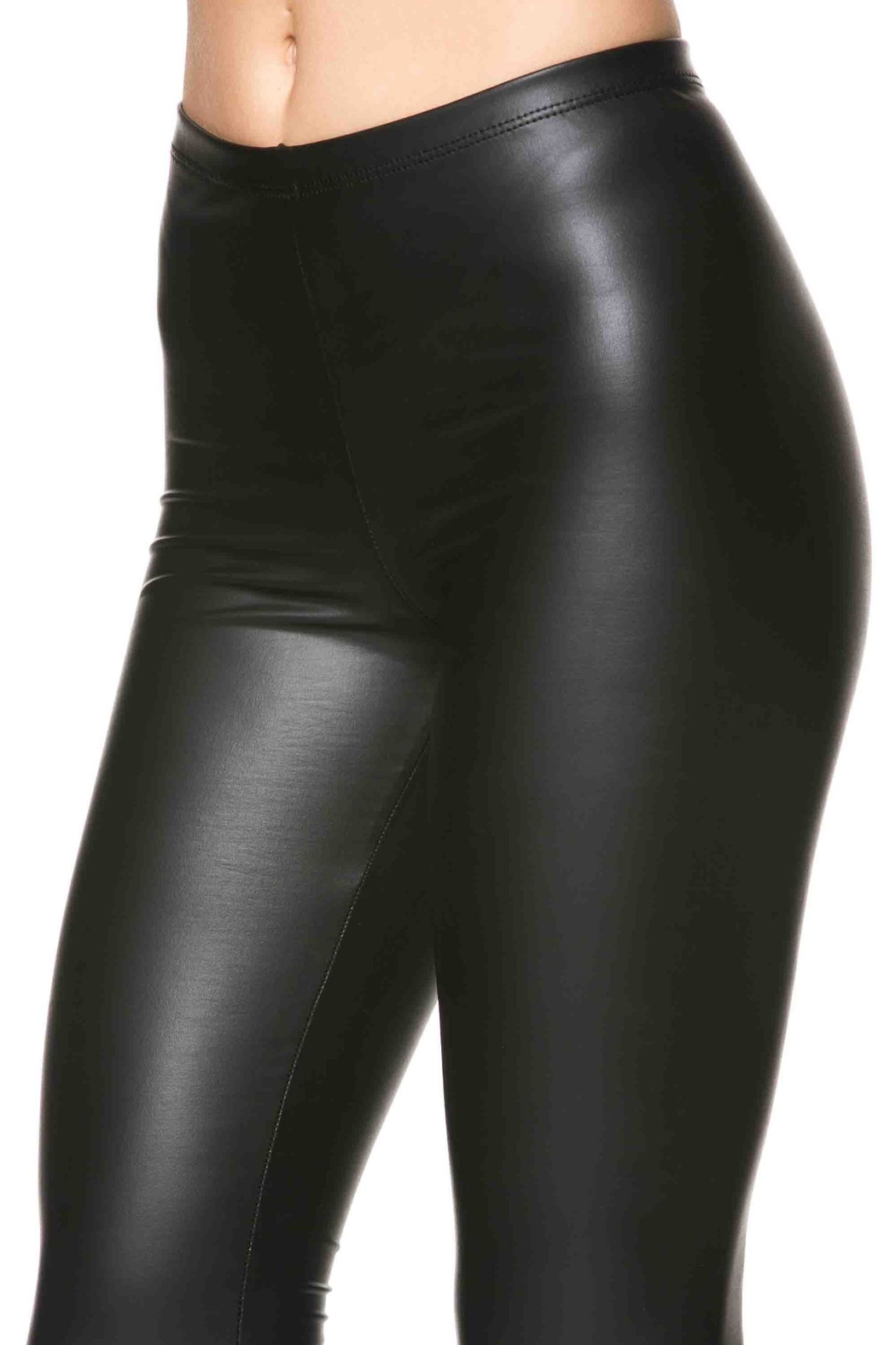 Lux Boutique Kat Leather Leggings - Side Cropped Image