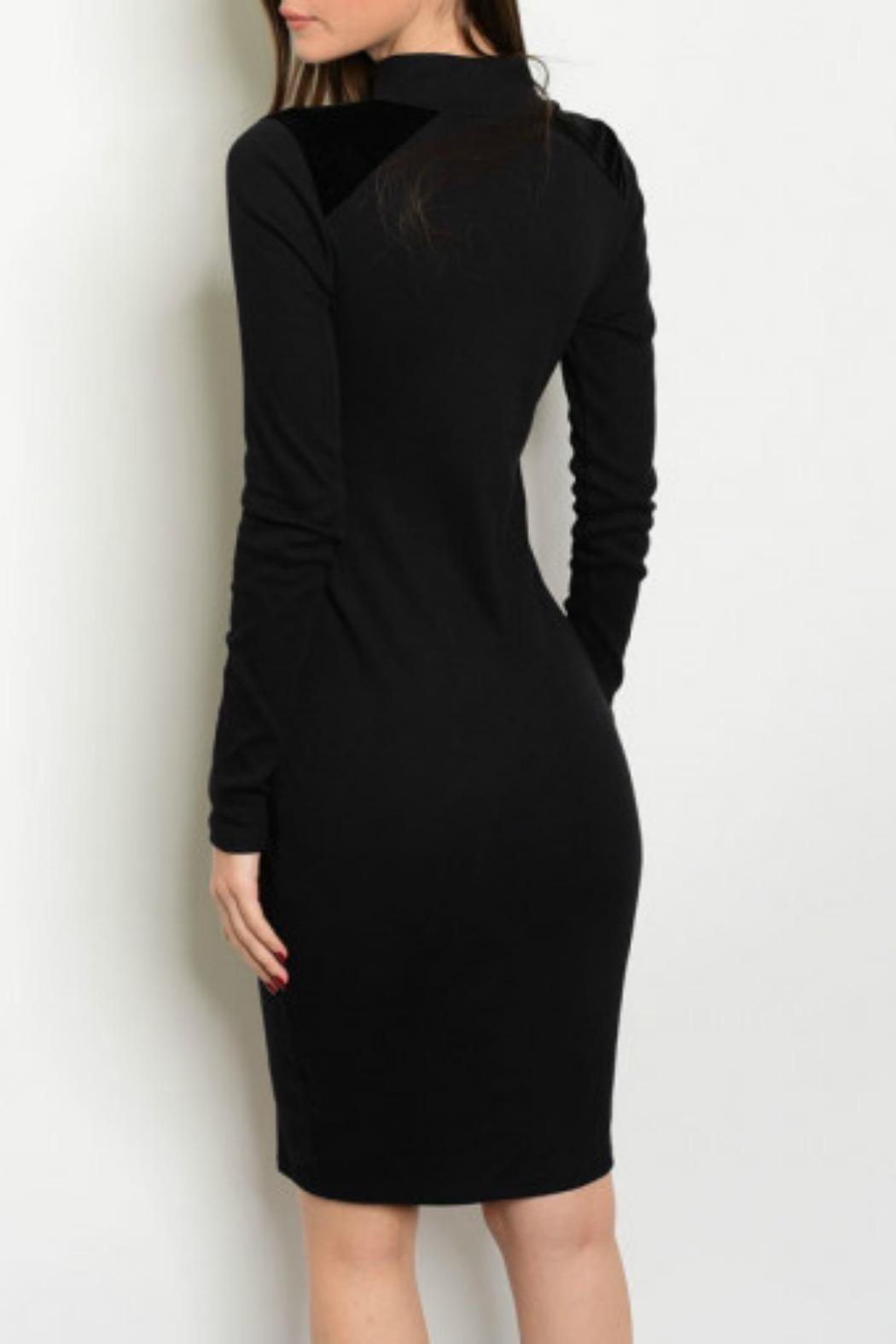 Lux Boutique Mock Neck Dress - Front Full Image