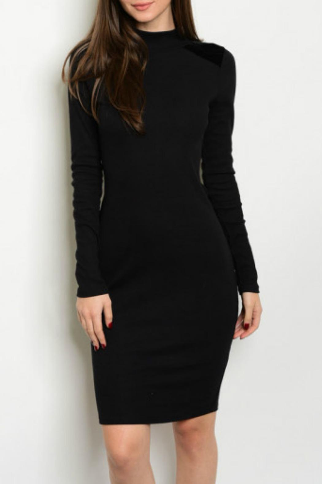 Lux Boutique Mock Neck Dress - Main Image