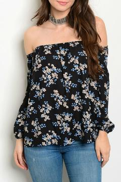 Lux Boutique Black Floral Top - Product List Image