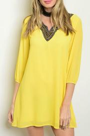 Lux Boutique Yellow Tunic Dress - Product Mini Image