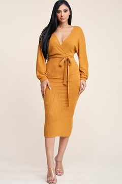 Lux Clothing Sexy Rib Knit Dress - Product List Image